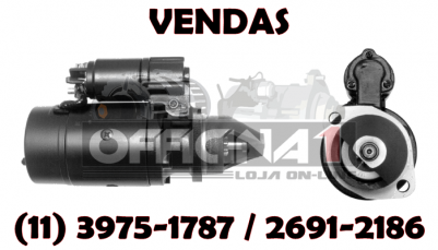 MOTOR DE PARTIDA ISKRA 12V 10D 11130819 IS0569 MS264 ORIGINAL